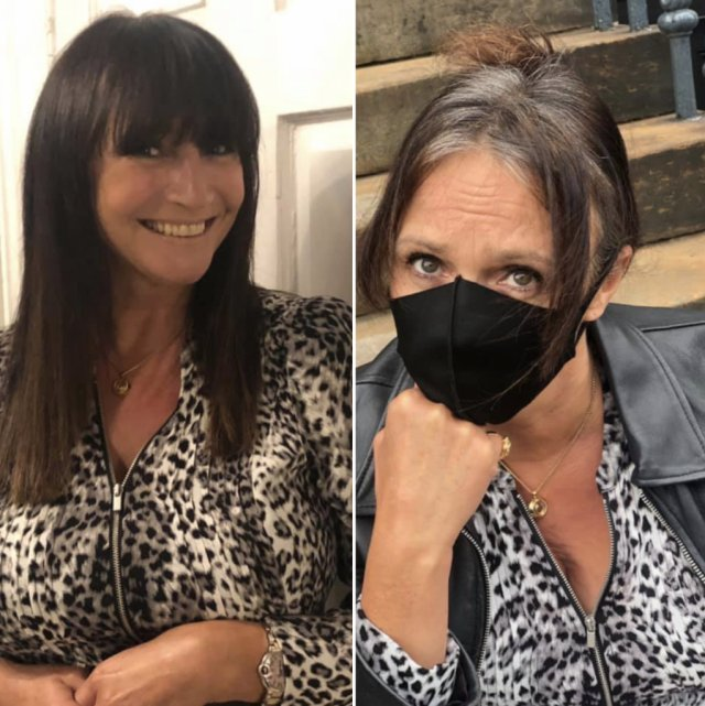 Before and After lockdown hair at the best hair dressers in edinburgh