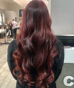 gorgeous red balayage at the best hair salons in edinburgh