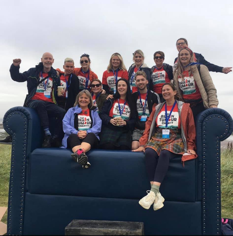 Cheynes Hairdressers in Edinburgh Kiltwalk fundraising