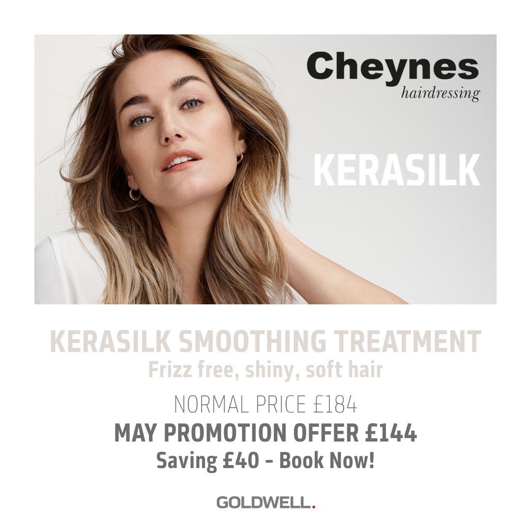 kerasilk hair smoothing at Cheynes Hair Salons in Edinburgh special offer