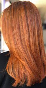 red hair colour at cheynes hairdressers in edinburgh