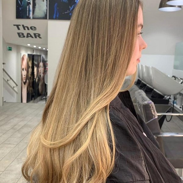 blonde balayage hair colour, cheynes hair salons, edinburgh