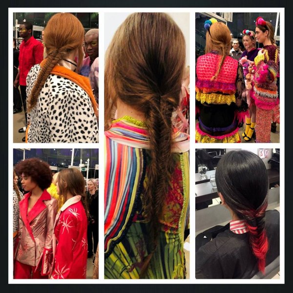 Hairstyling at Fashion Show